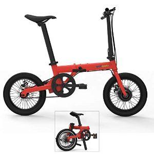 Qualisports 16in Hybrid Electric Mountain Bike Mini Foldable ebike