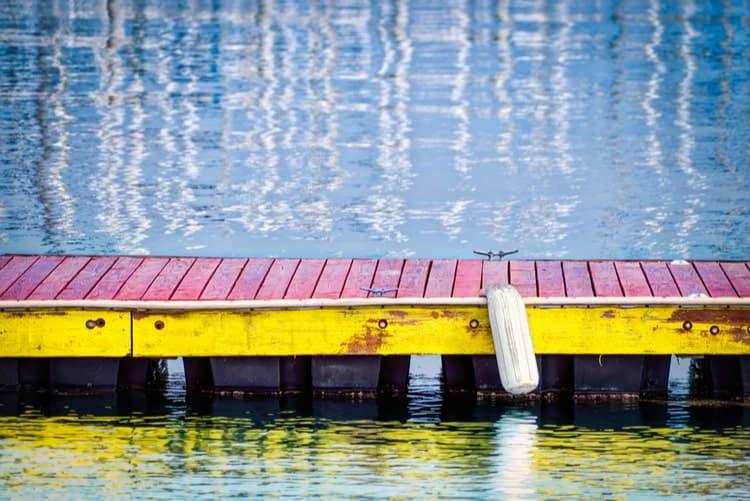 Angled Back PVC Dock Bumper