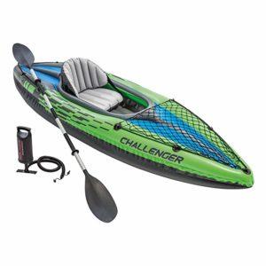 Intext Challenger 1-Person Inflatable Aluminum Kayak.