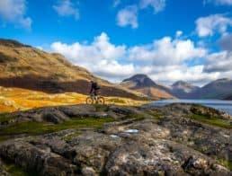 A Person Riding a Mountain Bike