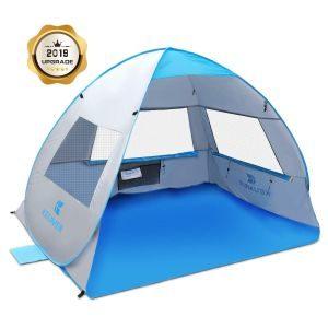 SGODDE Large Pop Up Beach Tent