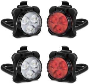 AKALE Rechargeable Bike Light Set