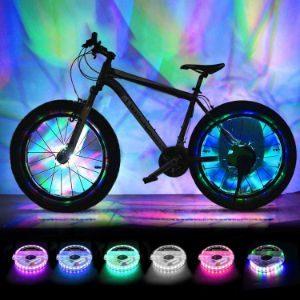 BRIONAC Rechargeable Bike Wheel Lights