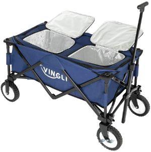 VINGLI 80 Quart Ice Chest Wagon on Wheels-min