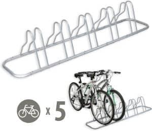 Simple Houseware 5 Bike Adjustable Storage Stand
