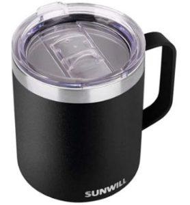 SUNWILL Insulated Coffee Mug with Handle-min